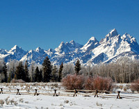Grand Tetons in Winter - Grand Teton NP, Wyoming